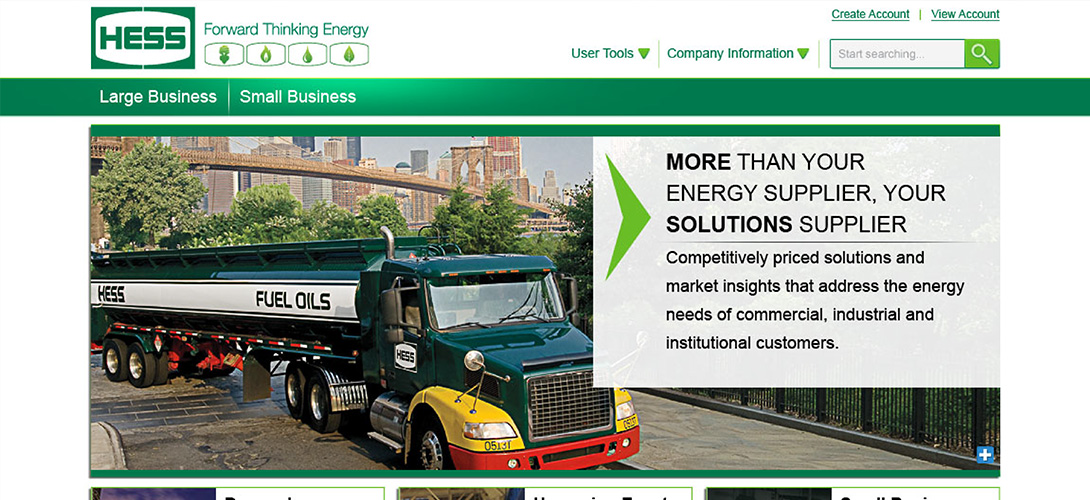 Hess Energy Website